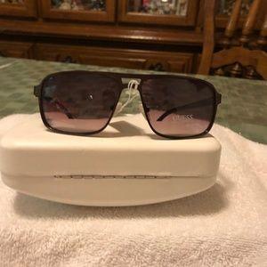 Men's Guess Brown Squared Sunglasses NWT GF0192